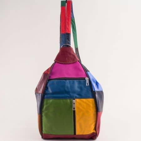 Дамска раница в розово, жълто, зелено, синьо и червено ch2908ps1