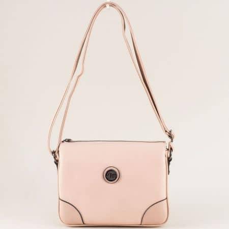 Дамска чанта в розов цвят с регулируема дълга дръжка ch4716rz