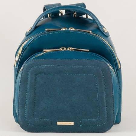Модерна дамска раница в синьо- David Jones ch5207-2s
