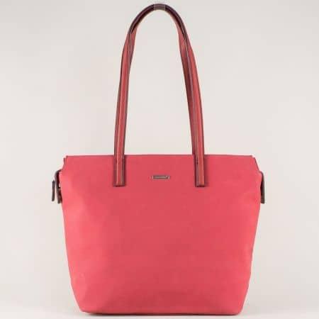 Червена дамска чанта със стилна визия ch5282-2bd