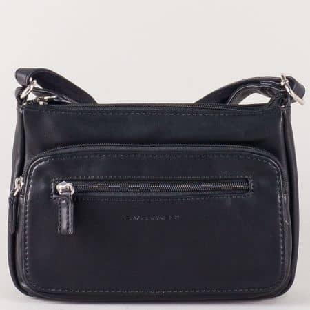 Френска дамска чанта с дълга дръжка в черен цвят ch5299-1ch
