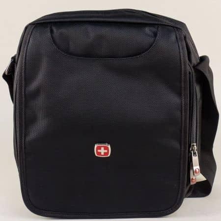 Мъжка чанта в черен цвят с две прегради- KML ch5332ch