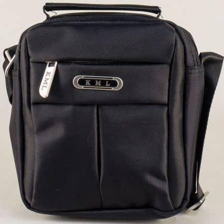 Мъжка чанта с къса и дълга дръжка- KML в черен цвят ch552ch