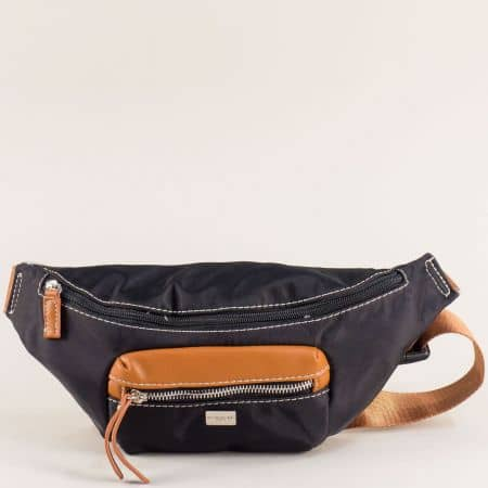 Дамска чанта за кръста в черен цвят- DAVID JONES ch6008-1ch
