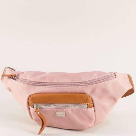 Дамска чанта за кръста в розов цвят- DAVID JONES ch6008-1rz