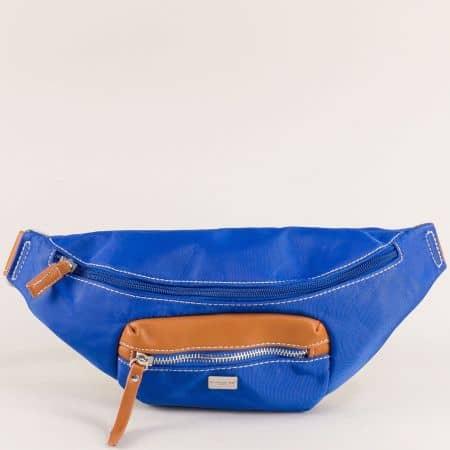 Дамска чанта за кръста в син цвят- DAVID JONES ch6008-1s