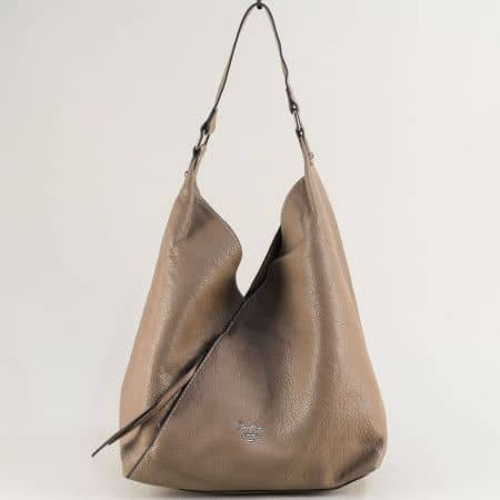 Дамска чанта с органайзер в бежов цвят- DAVID JONES ch6102-1bj