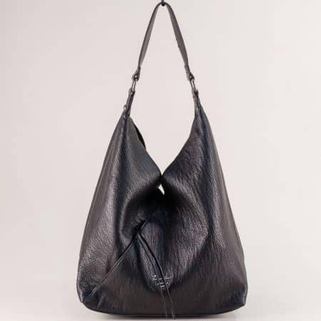 Дамска чанта, тип торба с органайзер в черен цвят ch6102-1ch