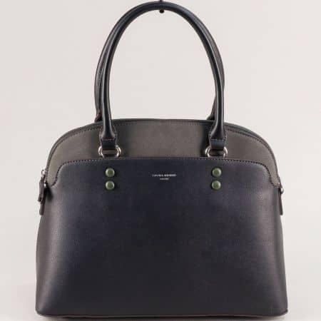 Черна дамска чанта- DAVID JONES с твърда структура ch6127-1ch