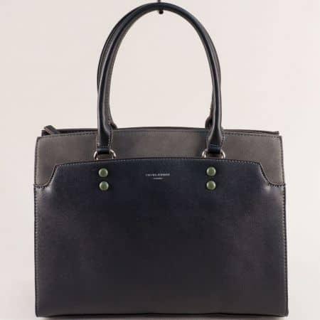 Френска дамска чанта с твърда структура в черен цвят ch6127-2ch