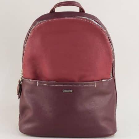 Дамска раница в цвят бордо- DAVID JONES ch6129-2bd