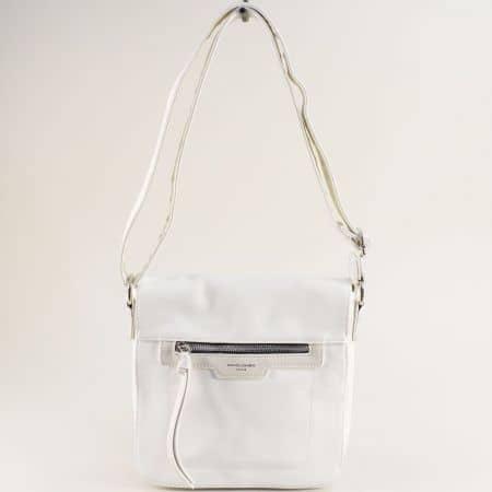 Бяла дамска чанта с дълга регулируема дръжка ch6201-2b
