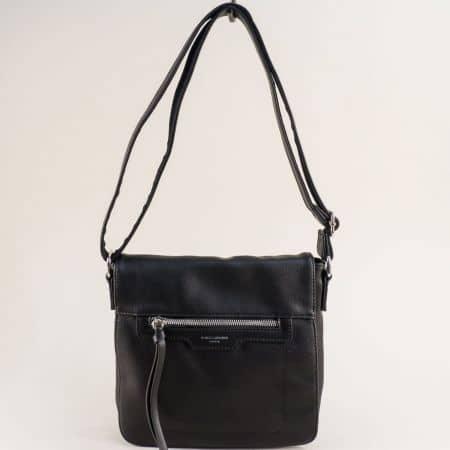 Черна дамска чанта- DAVID JONES с дълга дръжка ch6201-2ch