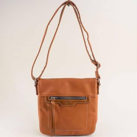 Кафява дамска чанта- DAVID JONES с дълга дръжка ch6201-2k