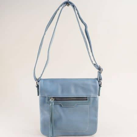 Светло синя дамска чанта- DAVID JONES с дълга дръжка ch6201-2s