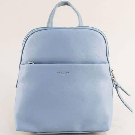 Дамска раница в светло син цвят- DAVID JONES ch6219-2s