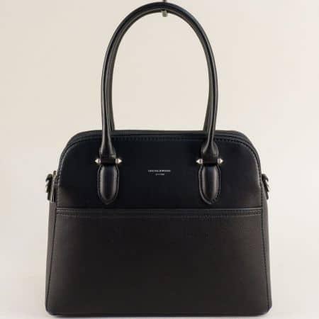 Дамска чанта в черно с три прегради- DAVID JONES ch6221-3ch