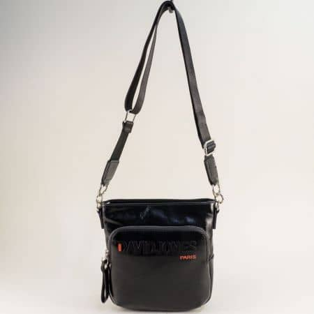 Черна дамска чанта- DAVID JONES с дълга дръжка ch6237-3ch