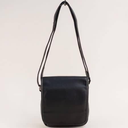 Мъжка чанта с прехлупване в черен цвят- DAVID JONES ch694404cch