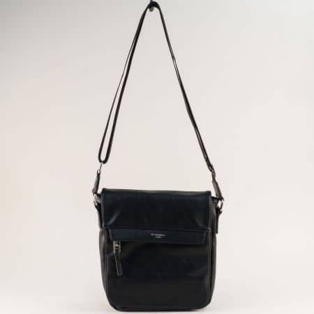 Черна мъжка чанта с два външни джоба- DAVID JONES ch696603ch