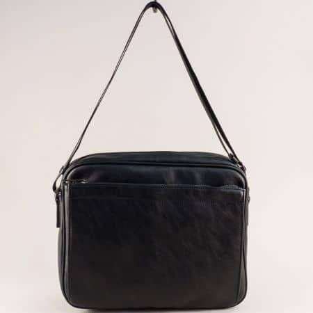 Мъжка чанта в черен цвят с практично разпределение  ch796602ch