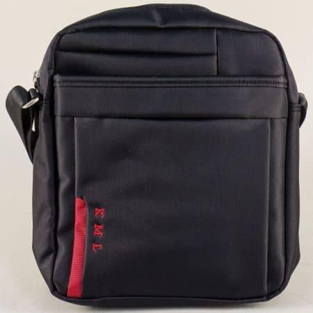 Мъжка чанта в червено и черно с две прегради- KML ch8215ch