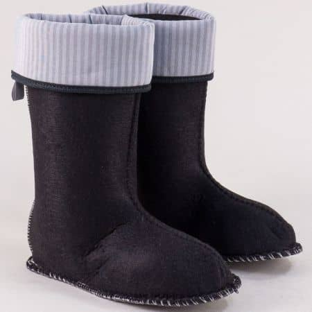Детски чорапи за гумени ботуши в черен цвят chr8