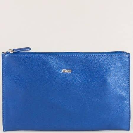 Дамска чанта с дълга дръжка в син цвят- DAVID JONES cm3413ts