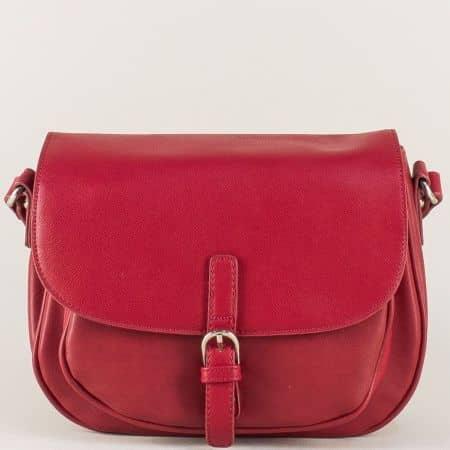 Червена дамска чанта David Jones с удобна дълга дръжка cm3266bd