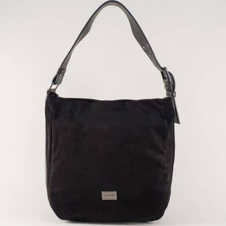 Черна чанта- David Jones с къса регулируема дръжа cm3267ch