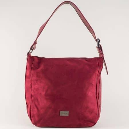 Фешън дамска чанта в цвят бордо на френската марка David Jones cm3267l