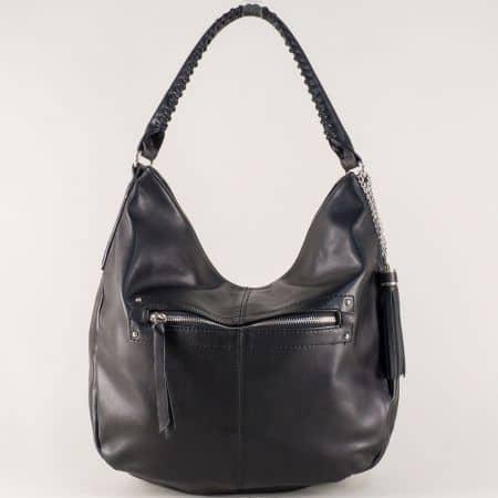 Дамска чанта, тип торба с къса и дълга дръжка в черно cm3270ch