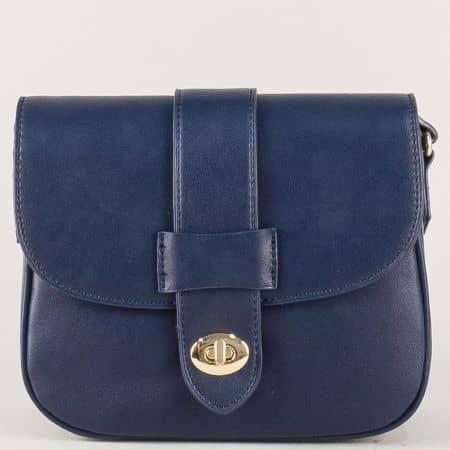 Синя дамска чанта с дълга дръжка- David Jones cm3273s