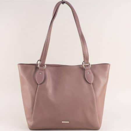 Светло кафява дамска чанта- DAVID JONES cm4063k