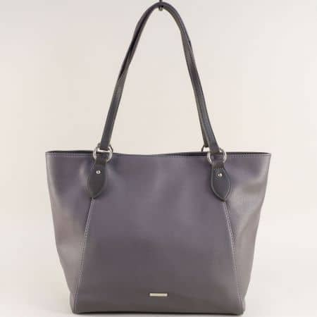 Френска дамска чанта в сив цвят- DAVID JONES cm4063sv