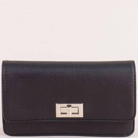 Малка дамска чанта- DAVID JONES в черен цвят cm5197ch