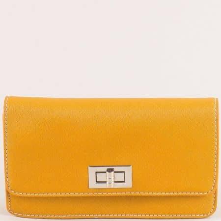 Малка дамска чанта в жълто- DAVID JONES  cm5197j
