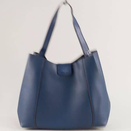 Дамска чанта, тип торба в тъмно син цвят- DAVID JONES cm5333s