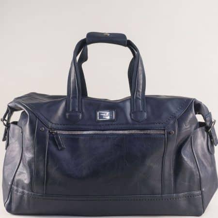 Тъмно синя пътна чанта с практично разпределение cm5341s