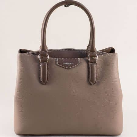 Дамска чанта- DAVID JONES в бежов цвят cm5347bj