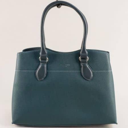 Дамска чанта в зелен цвят- DAVID JONES с три прегради cm5352z