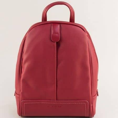 Дамска раница в червен цвят- DAVID JONES cm5433chv