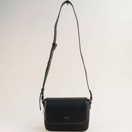Черна дамска чанта- DAVID JONES с дълга дръжка cm5619ach