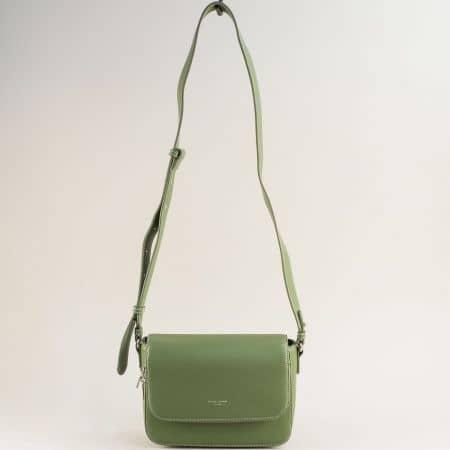 Зелена дамска чанта- DAVID JONES с дълга дръжка cm5619az