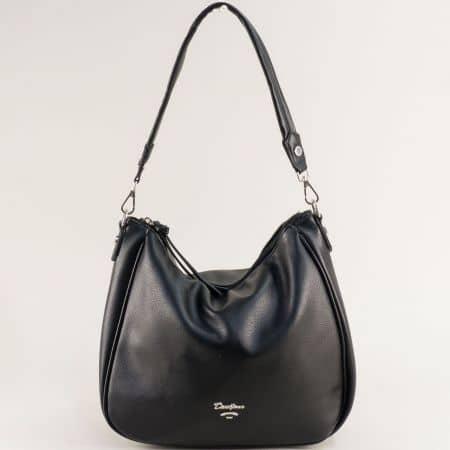 Дамска чанта, тип торба- DAVID JONES в черно с къса и дълга дръжка cm5764ch