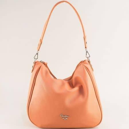 Дамска чанта, тип торба- DAVID JONES в оранж с къса и дълга дръжка cm5764o