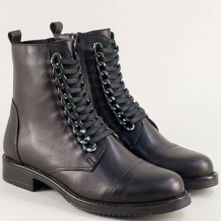 Дамски боти в черен цвят от естествена кожа на български производител conan07ch