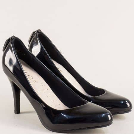 Дамски обувки на елегантен висок ток в черен цвят e888lch