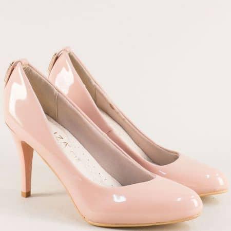 Розови дамски обувки на висок ток с кожена стелка e888lrz