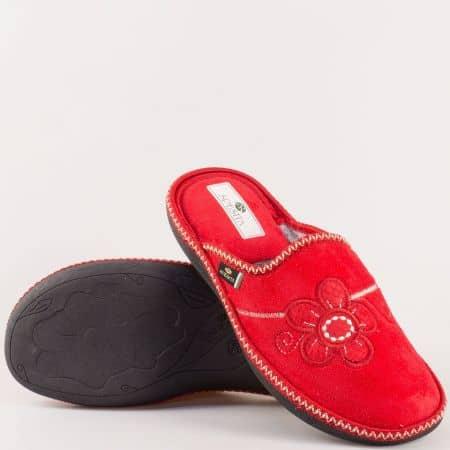 Червени дамски пантофи- Spesita на шито ходило ezriachv